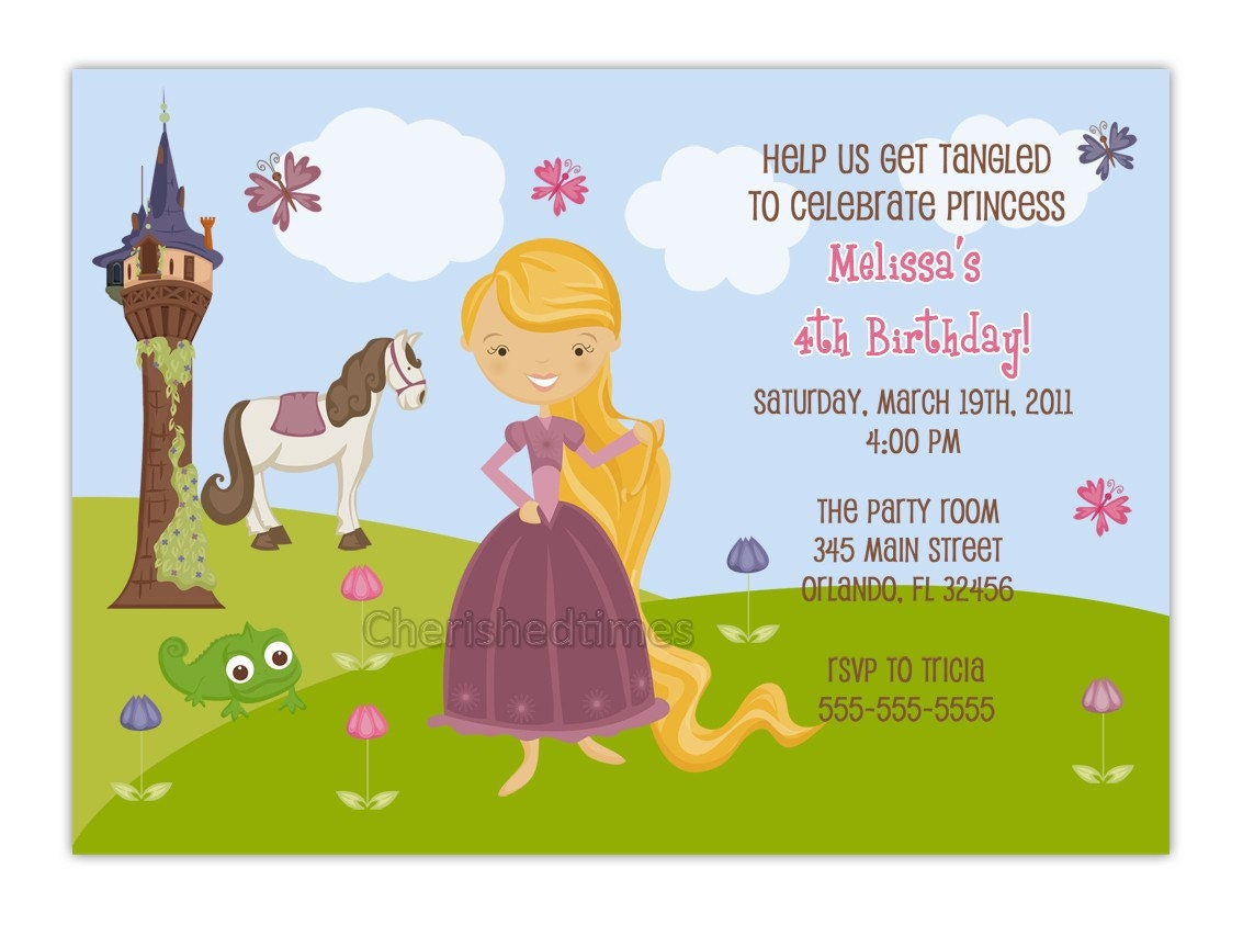 Tangled Birthday Party Invitations is adorable invitations layout