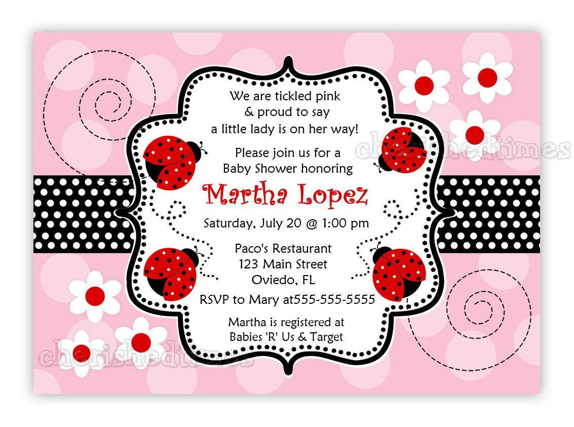 Popular items for ladybug baby shower on Etsy