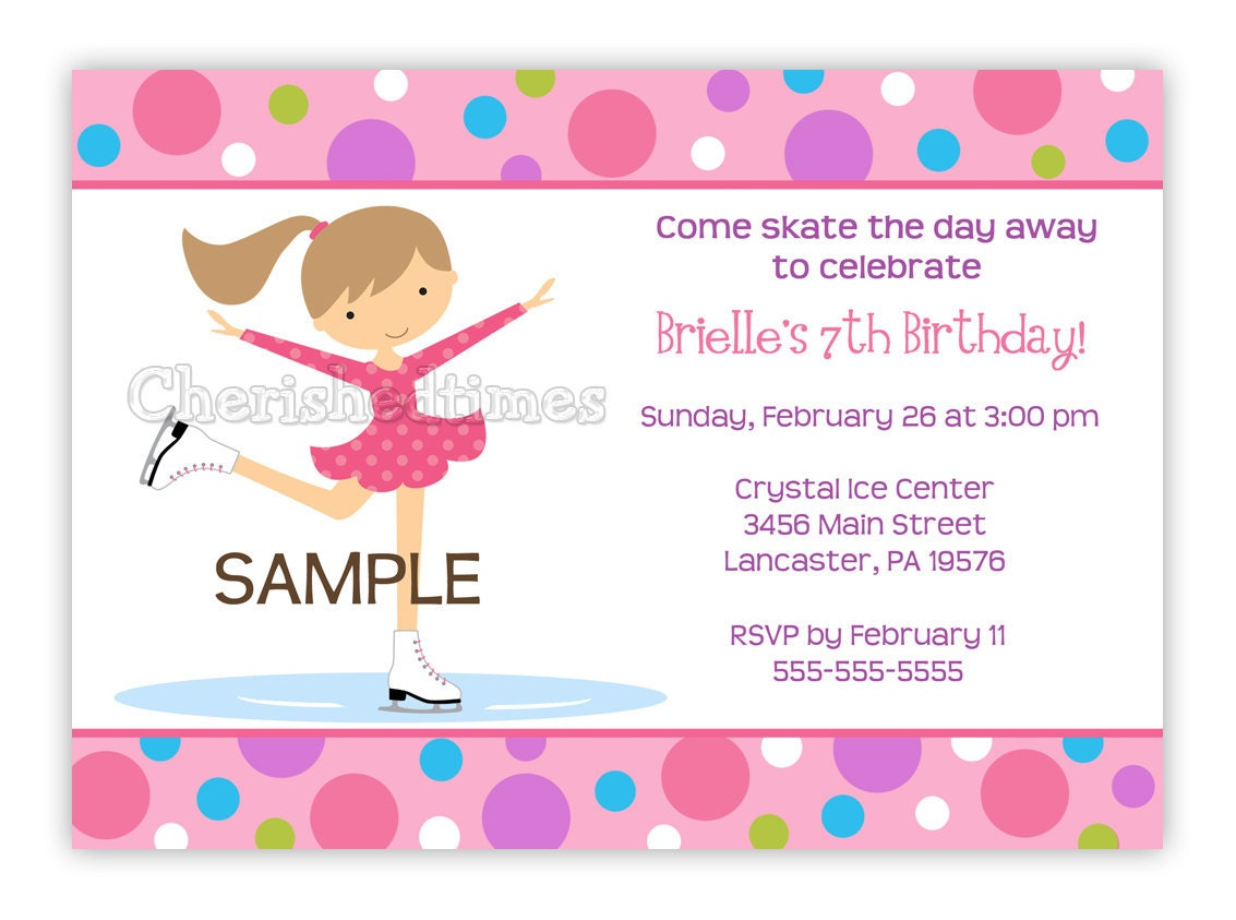 Ice Skating Birthday Invitations could be nice ideas for your invitation template