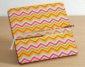 Business card holder, card holder, business card, desk accessories ,desk organizer, home decor, office decor, colorful chevron stripes