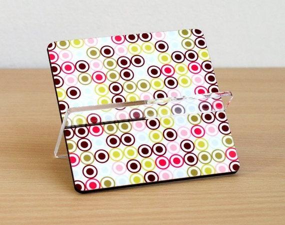 Desk business card holder colorful polka dots - black friday etsy cyber monday etsy