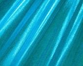Turquoise Holographic Mystique Spandex Fabric