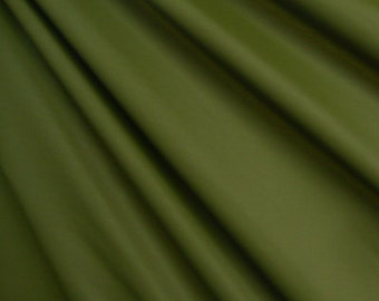 Olive Green Matte Stretch Lycra Fabric