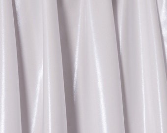 White Pearl Mystique Iridescent Spandex Fabric