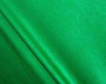 Kelly Green Shiny  Stretch Lycra Fabric