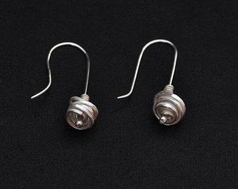 Handmade Silver Drop Earrings, drop earrings, silver earrings, dangle earrings, modern earrings, contemporary earrings, handmade earrings