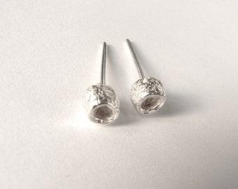 Silver Bottlebrush Studs, silver earrings, silver stud earrings, first earrings, modern earrings, contemporary earrings
