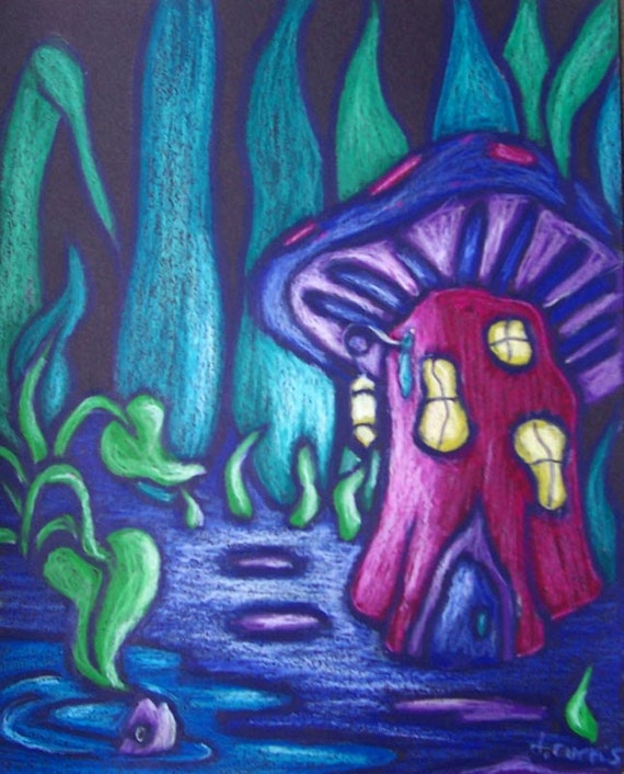 Painting Using Mushrooms