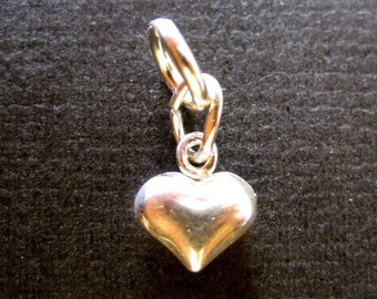 Small Puffed Sterling Silver Heart