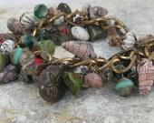Seashell Bracelet Beach Wedding Jewelry OOAK