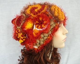 Funky Versatile freeform hat or cowl