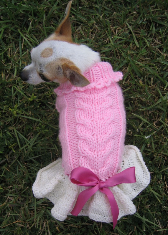 Items similar to sweet heart priness knitted dog cat - Knitted cat sweater pattern ...