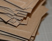 Heavyweight Chipboard ATC / ACEO Blanks (50) ... Art Cards Kraft Cards Art Supplies Artist Supply Thick Cards Eco Friendly Paperboard