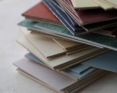 ATC \/ ACEO Blanks - 20 Cards and Sleeves, Crescent Matboard (Assorted Colors)