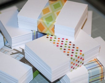 ATC / ACEO Blanks ... 100 Cards Bright White Cardstock Poly Sleeves Acid Free Archival Smooth Texture Artist Supply Art Cards Blank Cards
