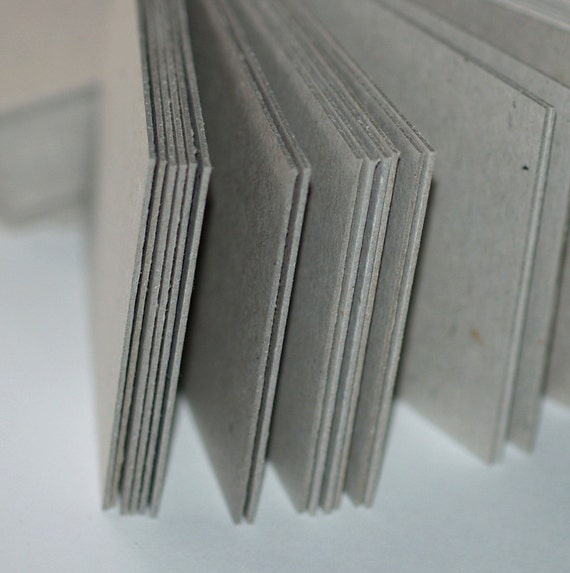 ATC / ACEO Blanks ... 25 Cards . Chipboard . Mixed Media . Assemblage . Sturdy . Art Supplies . Gray . Natural . Kraft