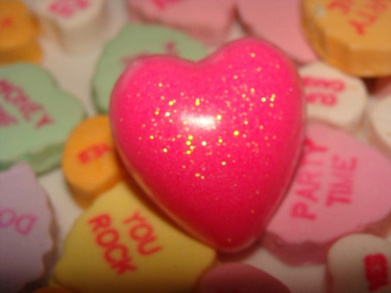 Sweet as Pink Resin Heart Ring