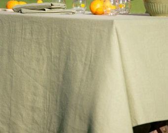 Oblong rectangular Linen tablecloth, custom table cloth, choose your color