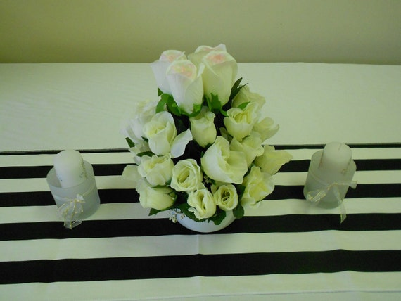 Set of 4 assorted, Wedding table runners,  NAVY blue and white 72L x 13W