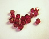 Ruby Swarovski Crystal 4mm Bicones - 16 pcs