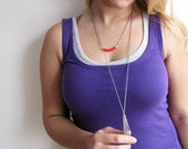 Long Stainless Steel Tassel Necklace