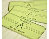 Personalized Family Money - Printable PDF