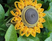 Unique Handmade Gift Paper Quilled Sunflower Trinket Box perfect for Mother's Day, Birthday, Teacher Appreciation or Christmas Gift