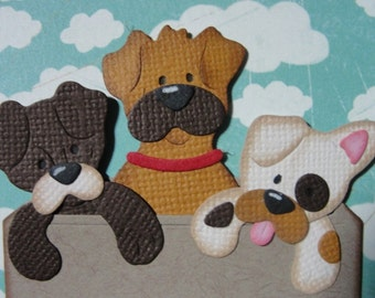 Darling Puppies in a Box Embellishment for Your Card and Scrapbooking Projects