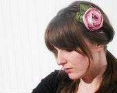 Headband / Raspberries and Cream Rose