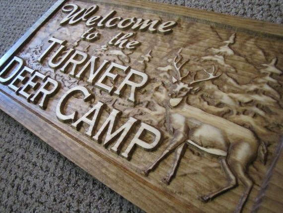 Personalized Sign Custom Carved Wood Wedding Gift Family Last Name Est Couples MAN CAVE Camp Wedding Cabin Hunt Deer RV Lake Plaque