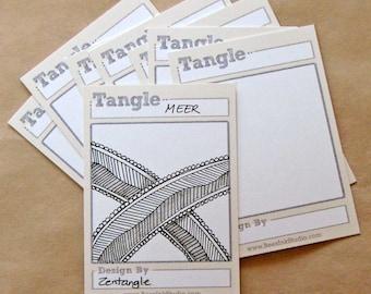 Tangle Trading Cards (DIY, blank)