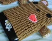 Teddy Bear Crocheted Netbook Sleeve