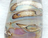 Squiggle Lustre Handmade Lampwork Bead