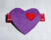 purple heart hair clip (PBD0014)