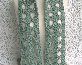 Scarf Green Lace Decorative Women Ladies Teens
