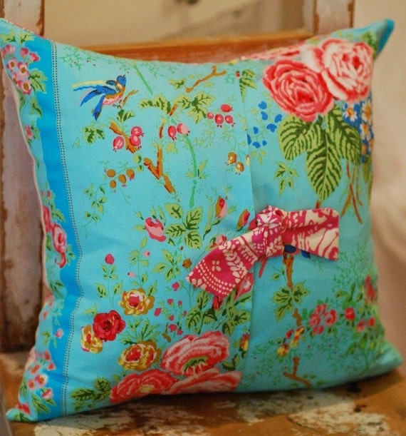 Shabby Chic Decorative Pillows : Decorative Throw Shabby Chic Pillow Cover 16 x by KenilworthPlace