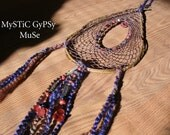 R A I N  D A N C E  - Nature  Inspired Dream Catcher Dreams Laughter Hemp Willow Glass Beads