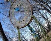 G  A  I  A - New Earth Dream Catcher Earth Wisdom Hemp Willow Glass Beauty