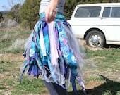 Sky G O D D E S S -  Pixie Tutu Wrap Skirt Eco Upcycle