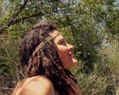T H U N D E R bird - Headband Beaded Native American Stretchy Talisman Bohemian Jewelry