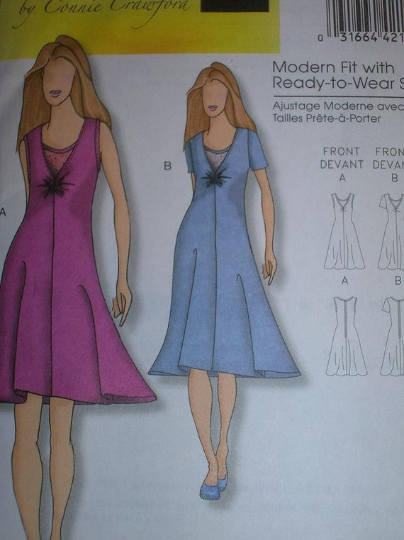 Butterick B5193, Womens Fabulously Flattering Dress, Semi-Fitted with Fluid Lines, Sizes xxl-6x