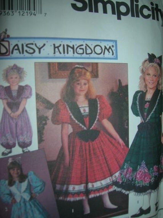 Simplicity 7698, UNCUT pattern , Daisy Kingdom, Girls Romper and Dress, sizes 6-7-8, chest size 25-26-27