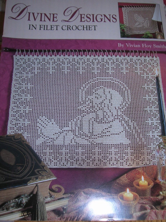 Divine Designs In Filet Crochet Leisure Arts 1990s Lords