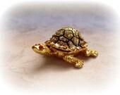 Sparkling Turtle Trinket Jewelry Box
