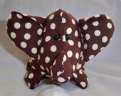 Bert the Brown Polka Dot Elephant