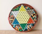 Vintage Chinese Checker Set with Marbles, Pixie Games by Steven Manufacturing