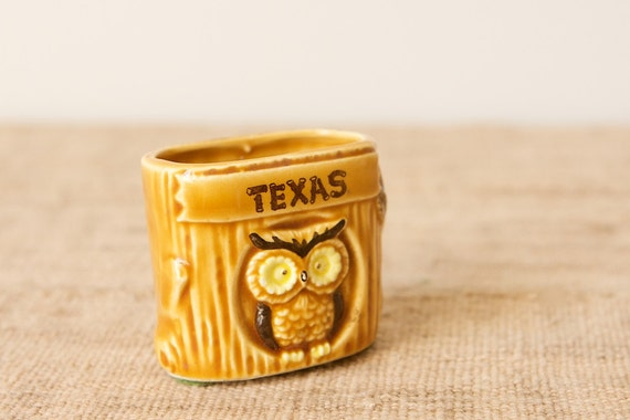 Souvenir Toothpick Holder-Texas Owl