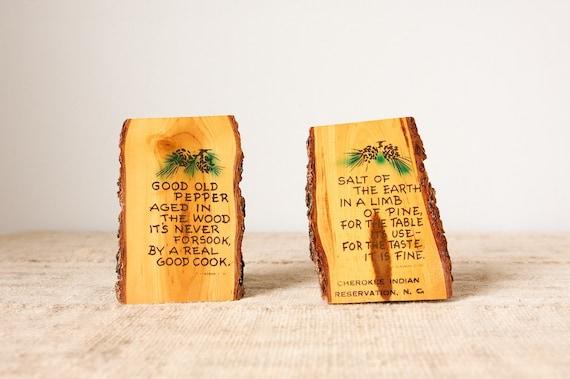 Woodland Kitsch Souvenir Salt and Pepper Shakers