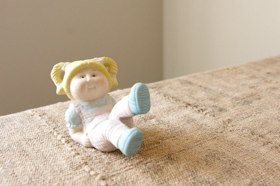 CLEARANCE Vintage Cabbage Patch Kids Ceramic Doll Figurine