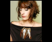 Natural Feather Necklace